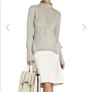BCBGMAXAZRIA turtleneck Maylin cable knit sweater